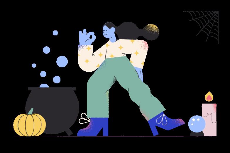 Иллюстрация колдунья в стиле  в PNG и SVG | Icons8 Иллюстрации