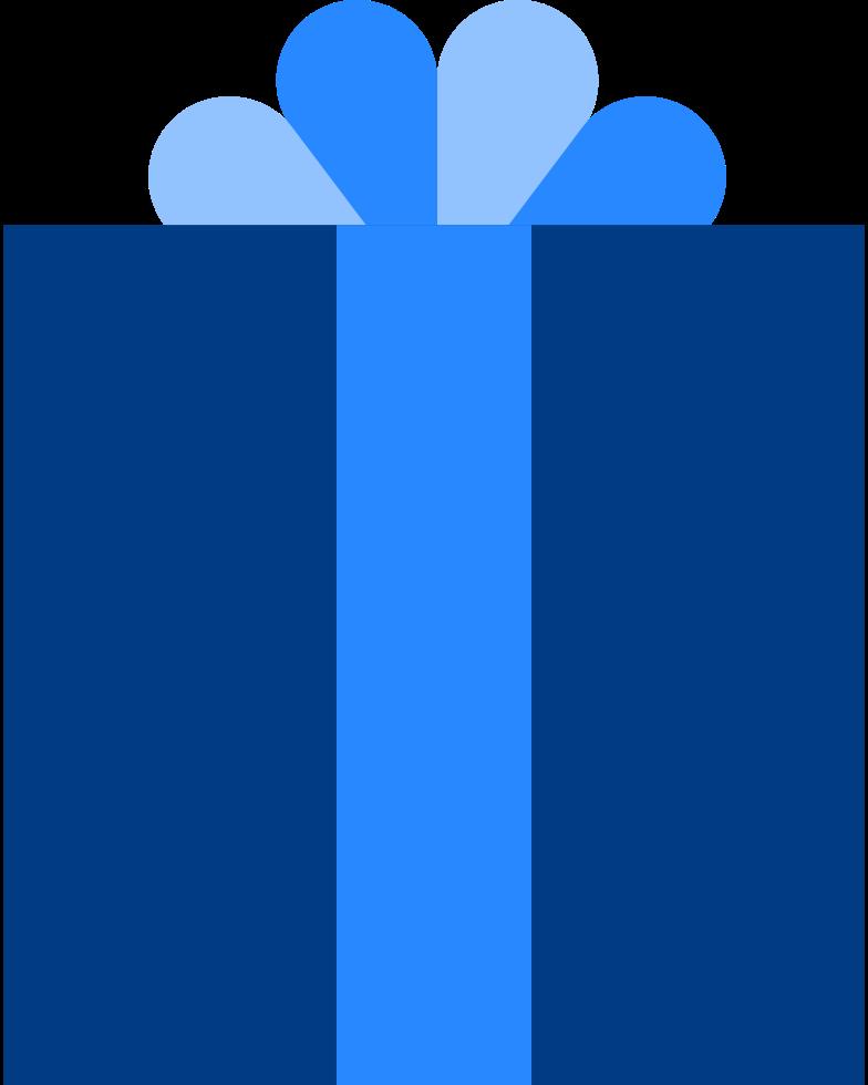 Ilustração de clipart de presente de natal em PNG e SVG