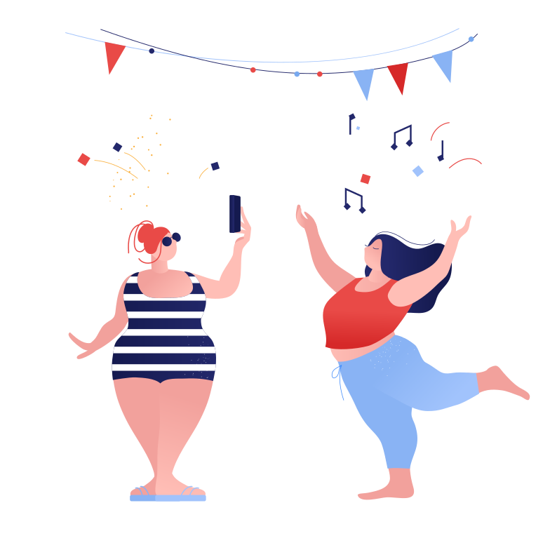 Taking photo at the party Clipart illustration in PNG, SVG