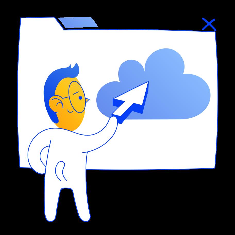 Cloud software Clipart illustration in PNG, SVG