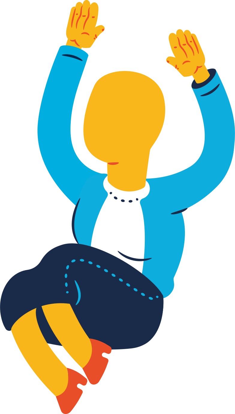 old woman jumping Clipart illustration in PNG, SVG