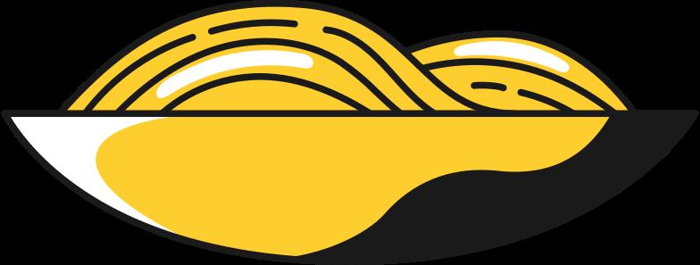 plate of noodles Clipart illustration in PNG, SVG