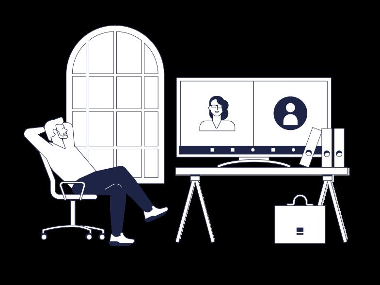 PNGとSVGの  スタイルの オンライン会議 ベクターイメージ | Icons8 イラスト