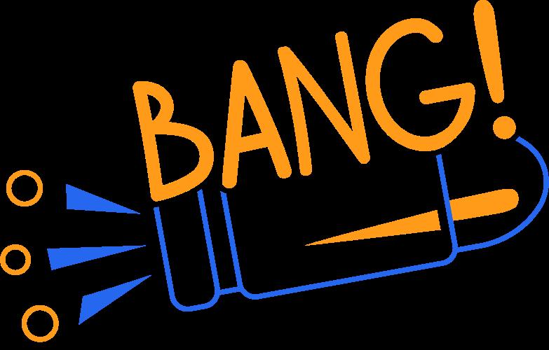 bang line Clipart illustration in PNG, SVG
