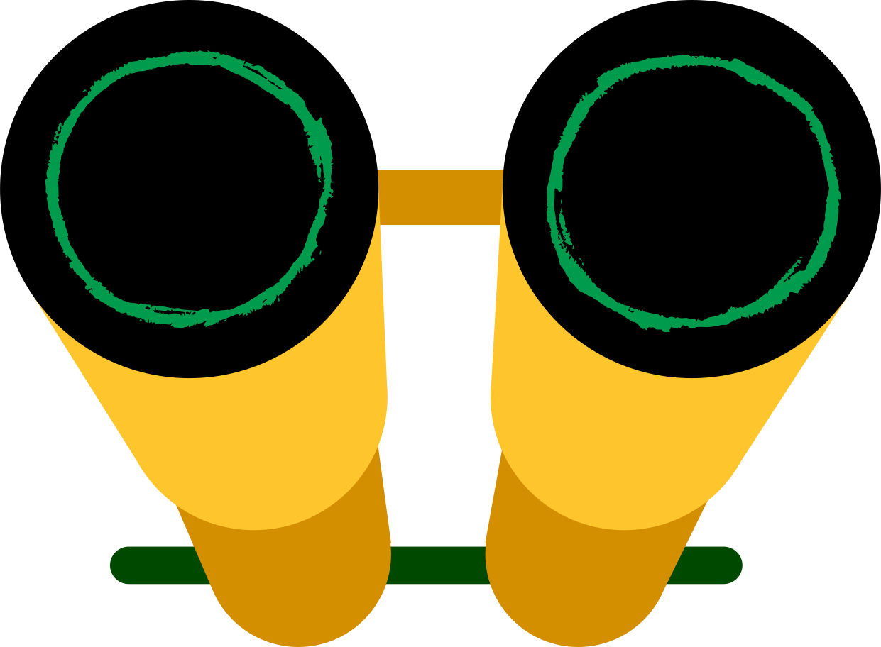 binocular Clipart illustration in PNG, SVG