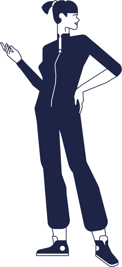 woman in denim Clipart illustration in PNG, SVG