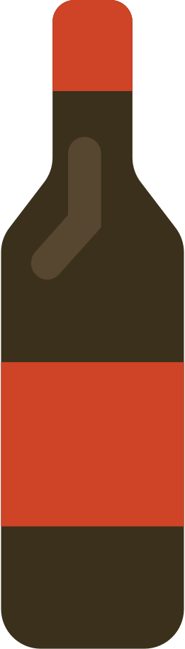 Ilustración de clipart de botella de vino en PNG, SVG