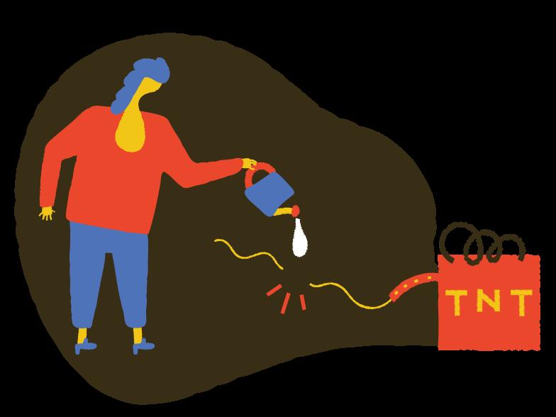 Prevent explosion Clipart illustration in PNG, SVG