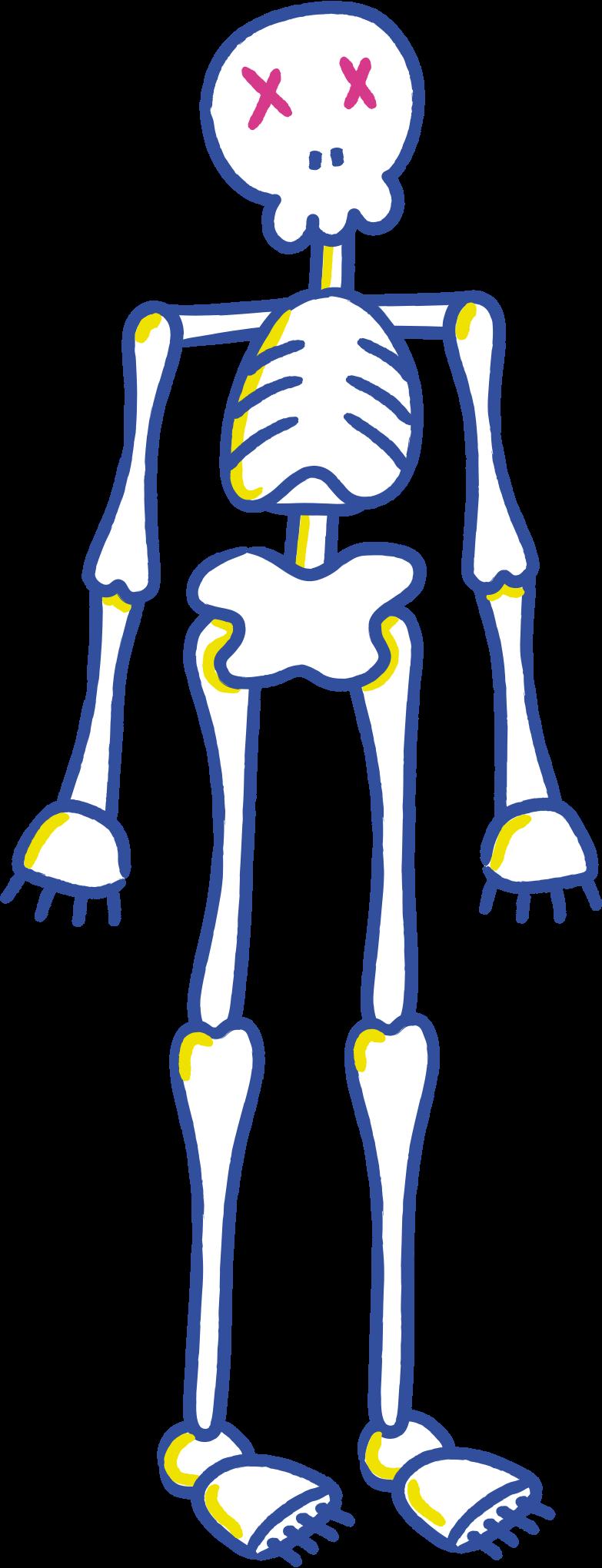 halloween skeleton Clipart illustration in PNG, SVG