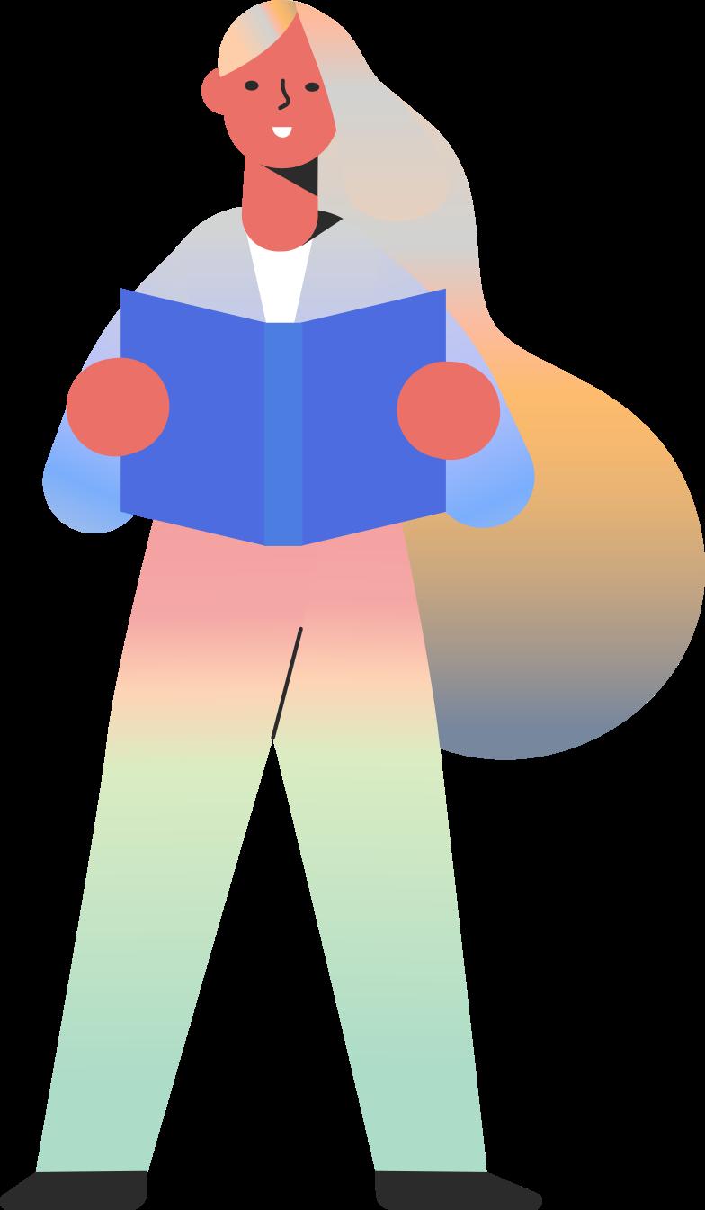 girl reading skin tone Clipart illustration in PNG, SVG