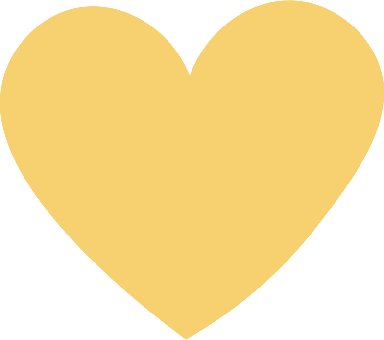 heart yellow Clipart illustration in PNG, SVG