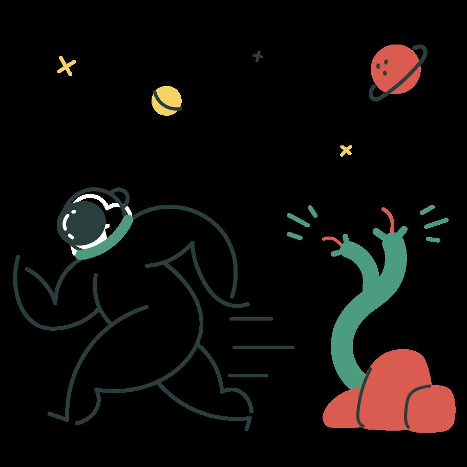 Space monster Clipart illustration in PNG, SVG