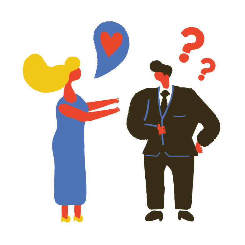 Unrequited love Clipart illustration in PNG, SVG