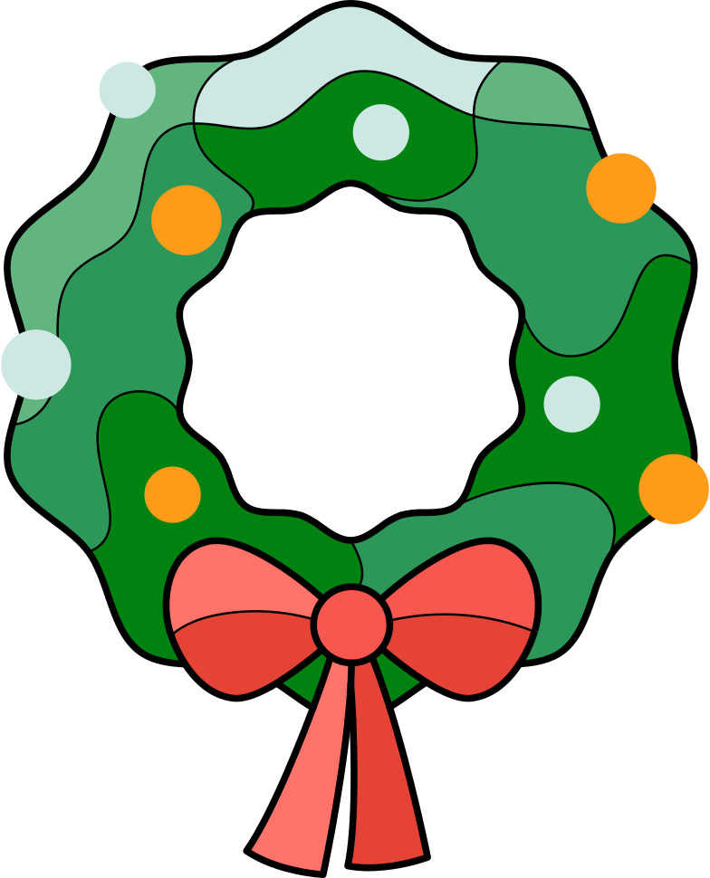 xmas wreath Clipart illustration in PNG, SVG