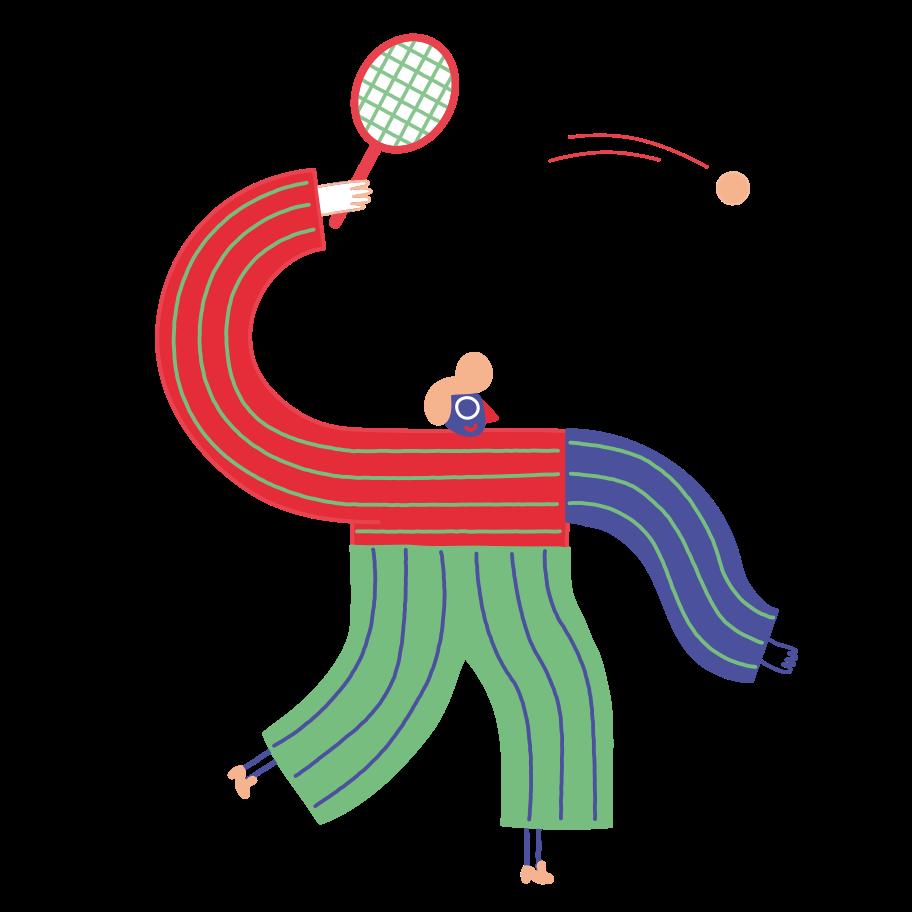 Tennis Clipart illustration in PNG, SVG