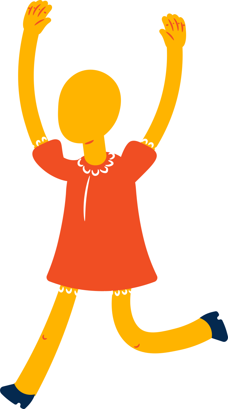 girl jumping Clipart illustration in PNG, SVG