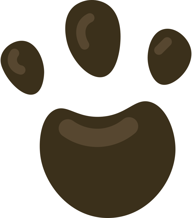 paw print single Clipart illustration in PNG, SVG