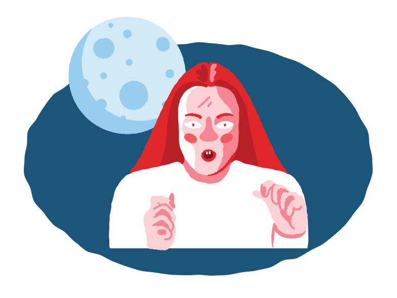 Horror bedtime story Clipart illustration in PNG, SVG