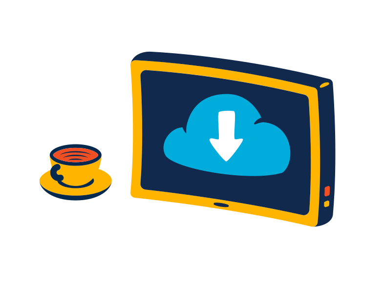 Cloud files Clipart illustration in PNG, SVG