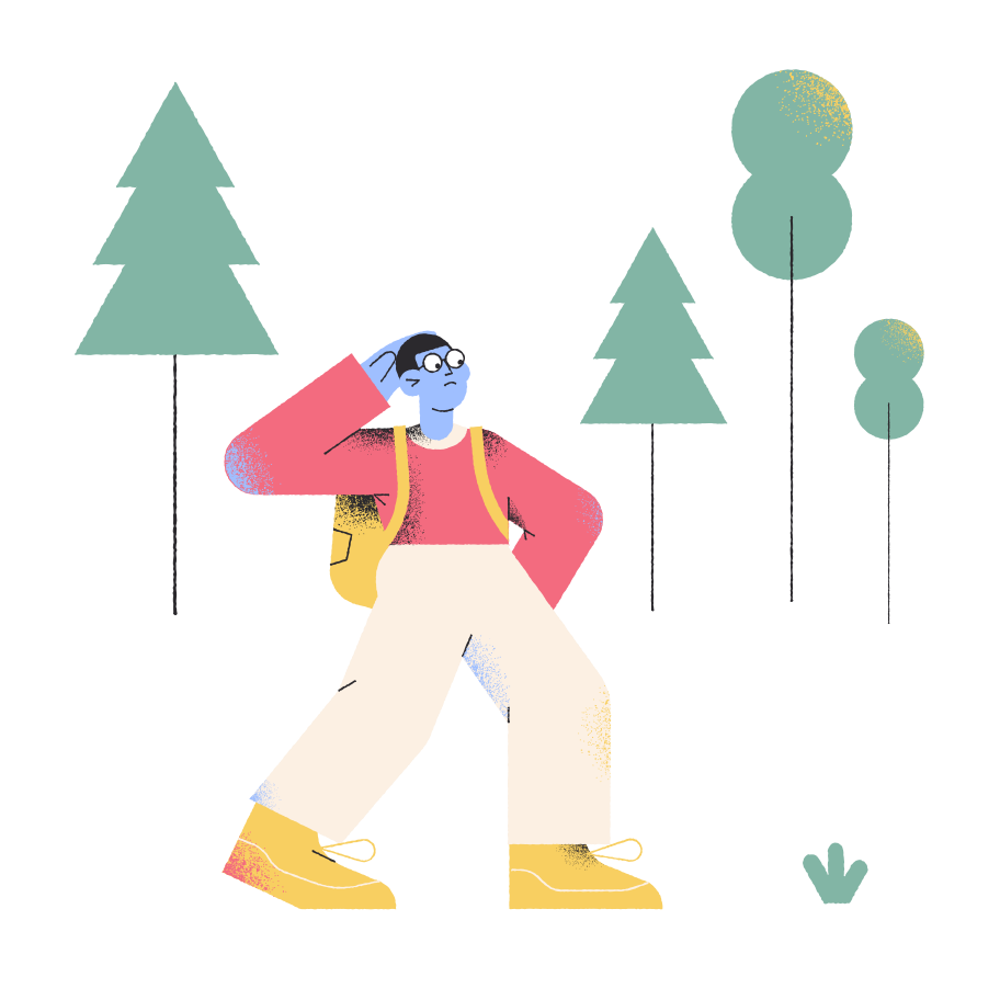 Lost in the forest Clipart illustration in PNG, SVG