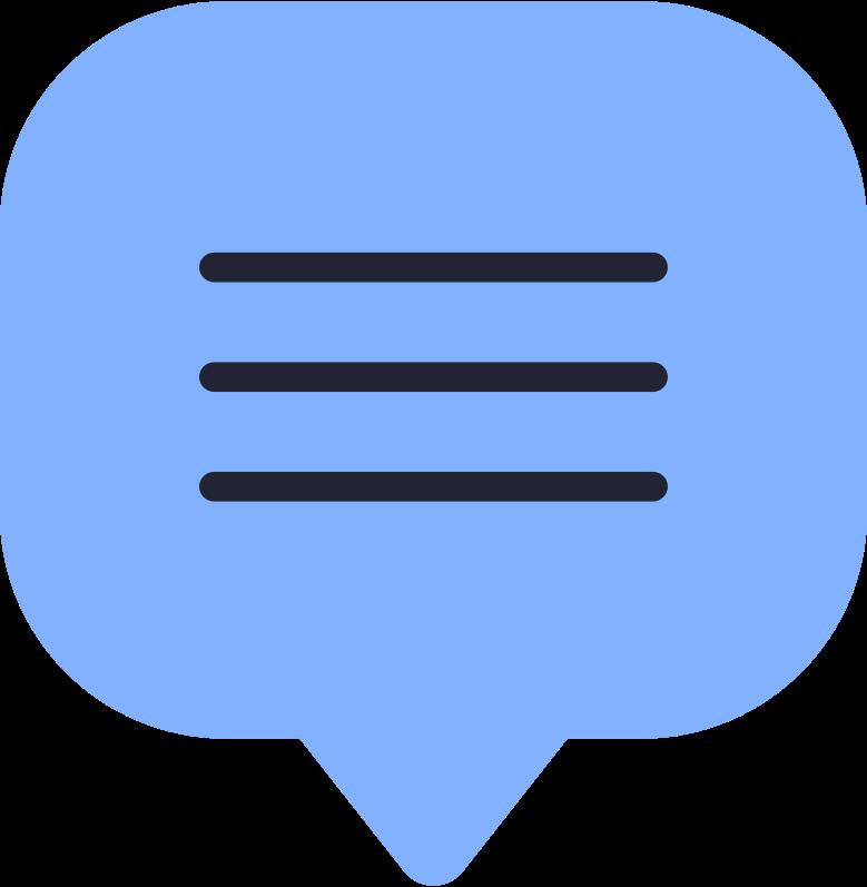 speech bubble Clipart-Grafik als PNG, SVG