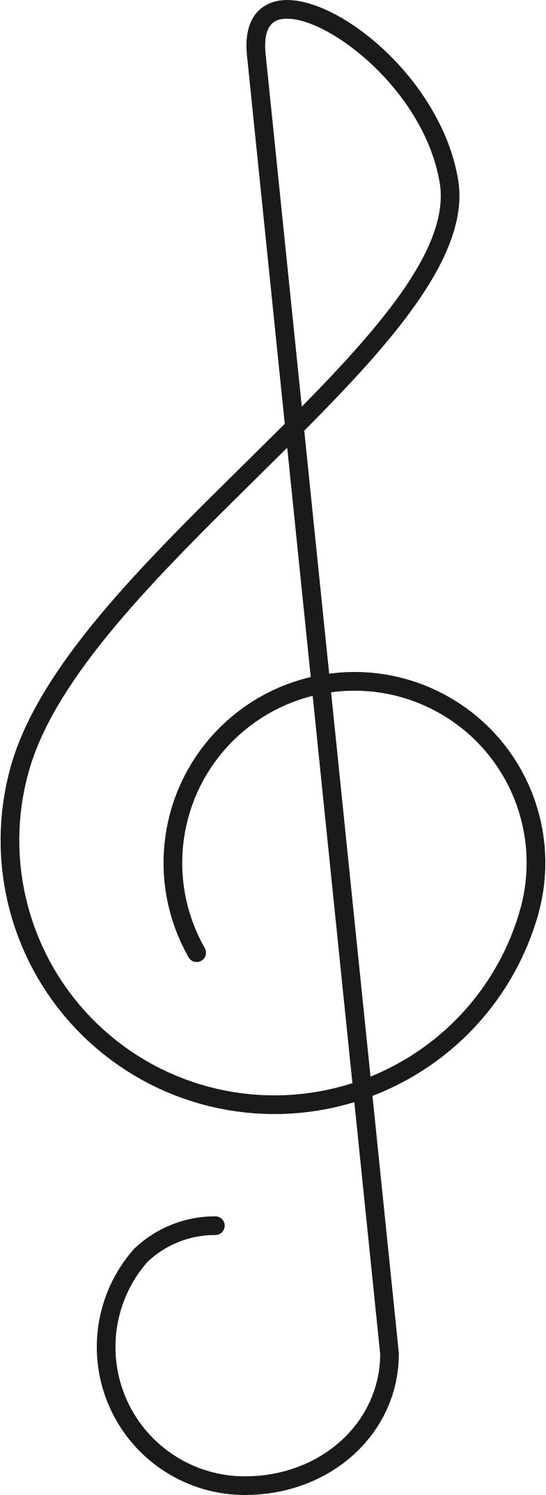 treble clef Clipart illustration in PNG, SVG