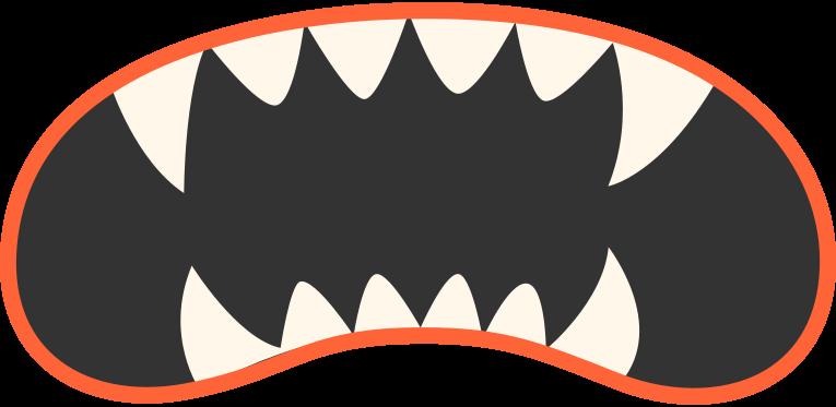 Ilustración de clipart de Boca vampiro en PNG, SVG