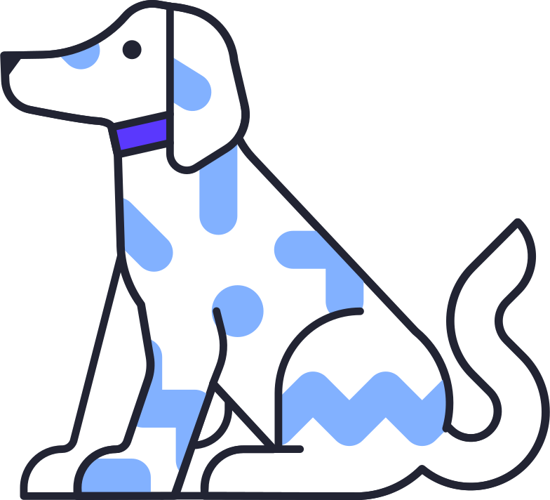 logged out  dog Clipart illustration in PNG, SVG