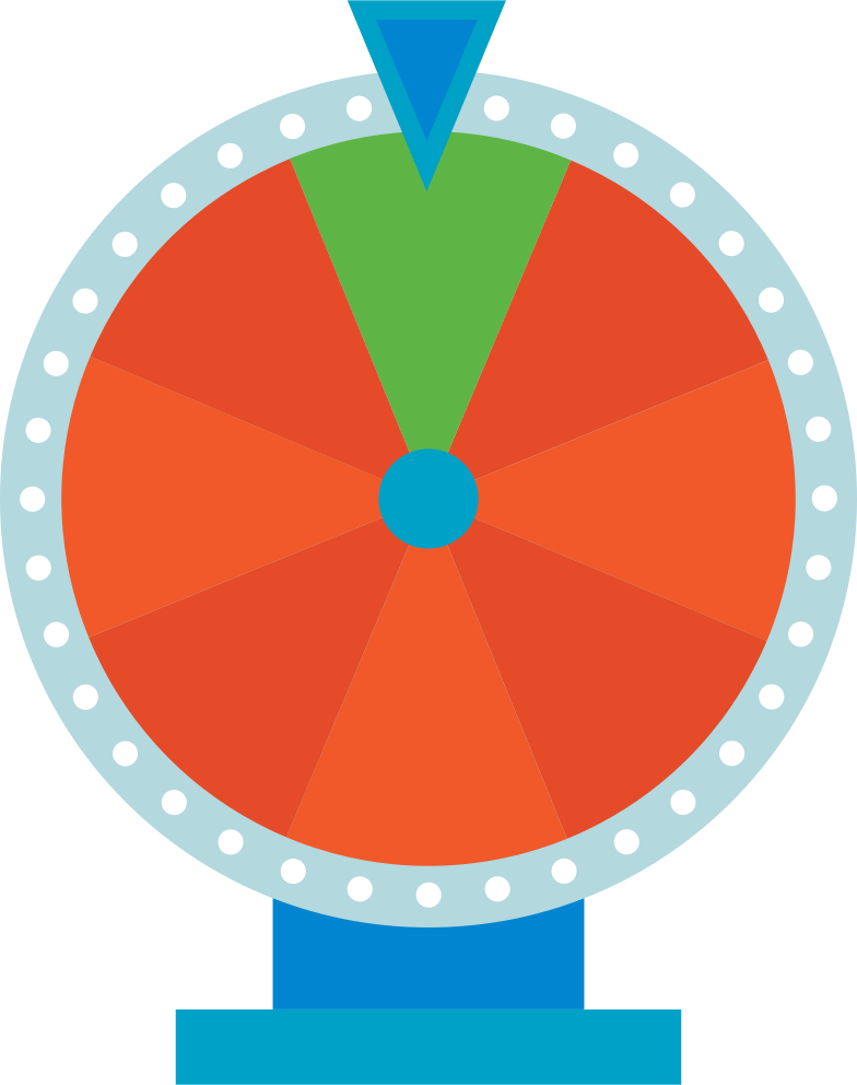 wheel of fortune Clipart illustration in PNG, SVG