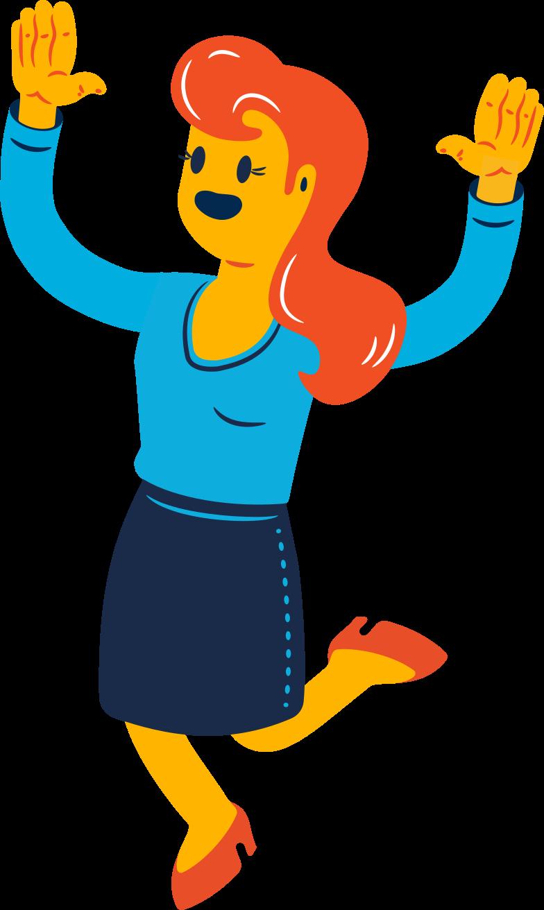 joyful woman Clipart illustration in PNG, SVG