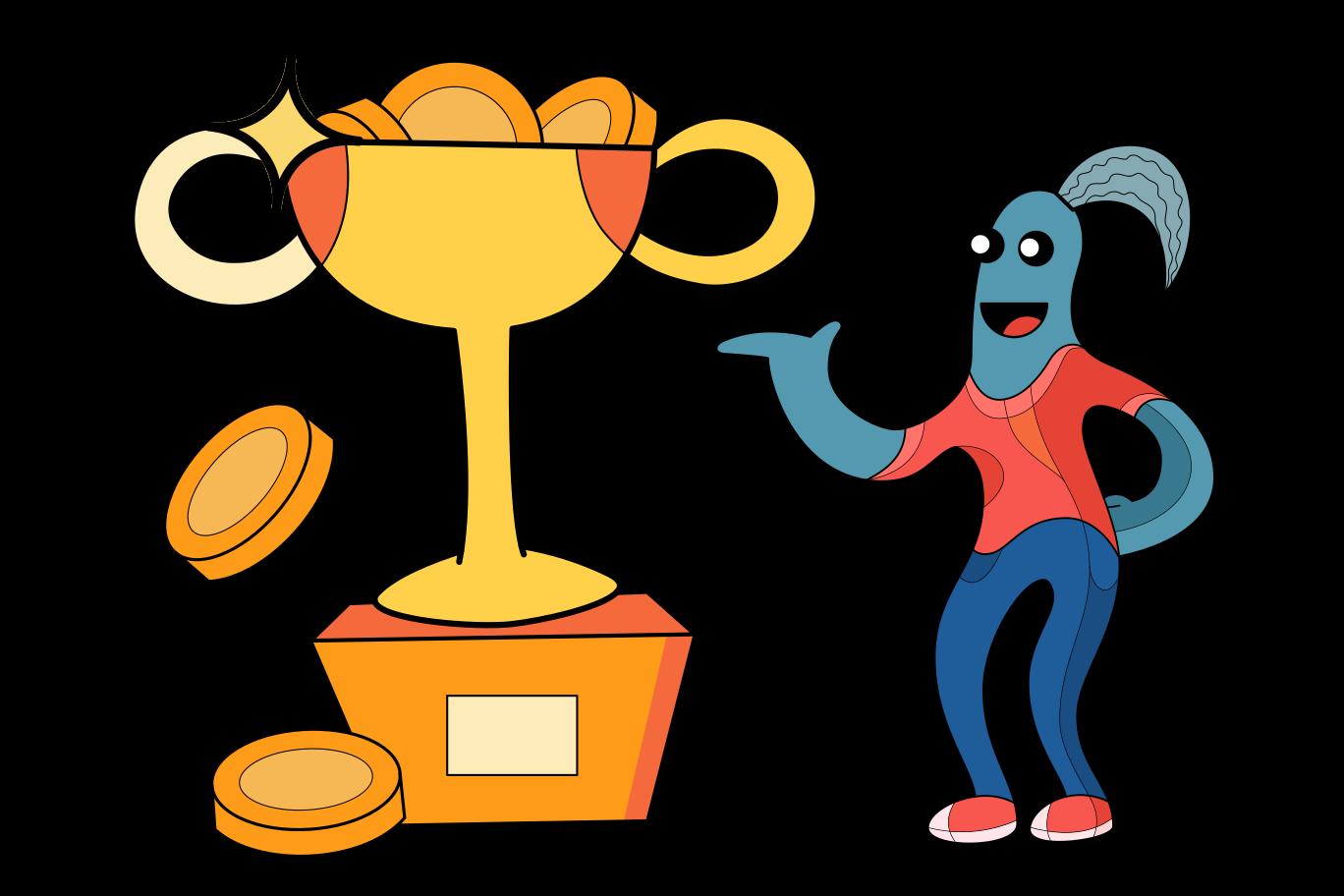 Money prize Clipart illustration in PNG, SVG