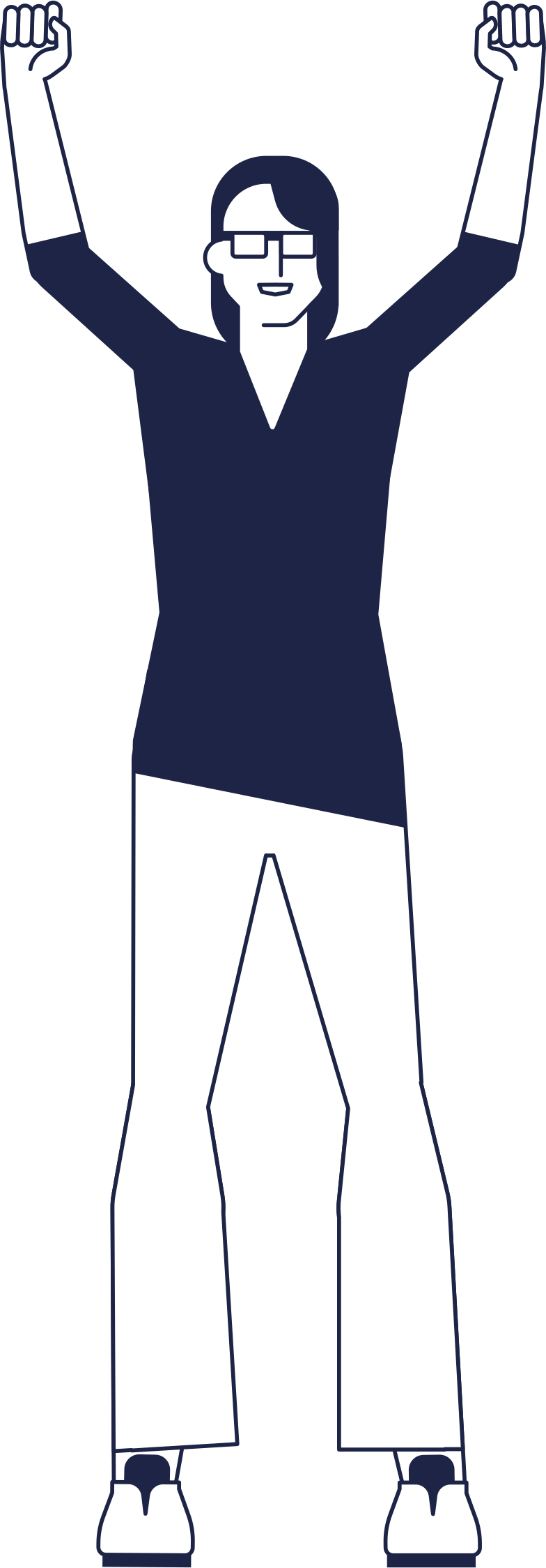 woman with hands up Clipart illustration in PNG, SVG