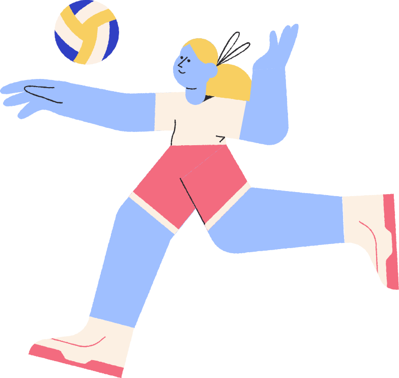 volleyballer Clipart illustration in PNG, SVG
