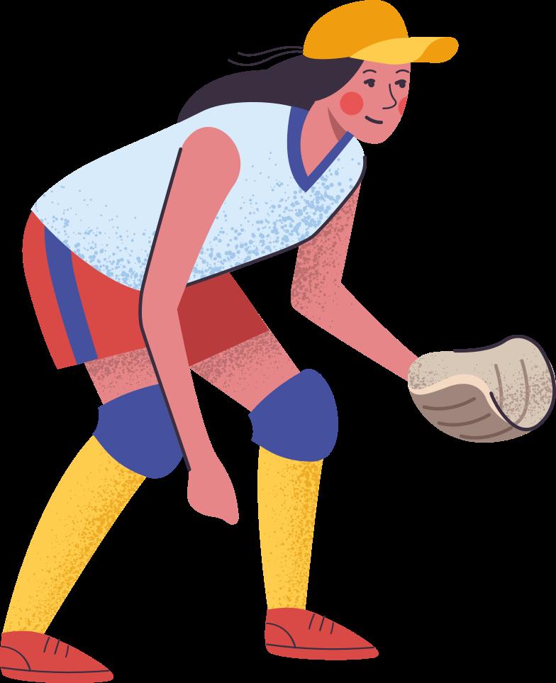 Giocatore di softball Illustrazione clipart in PNG, SVG