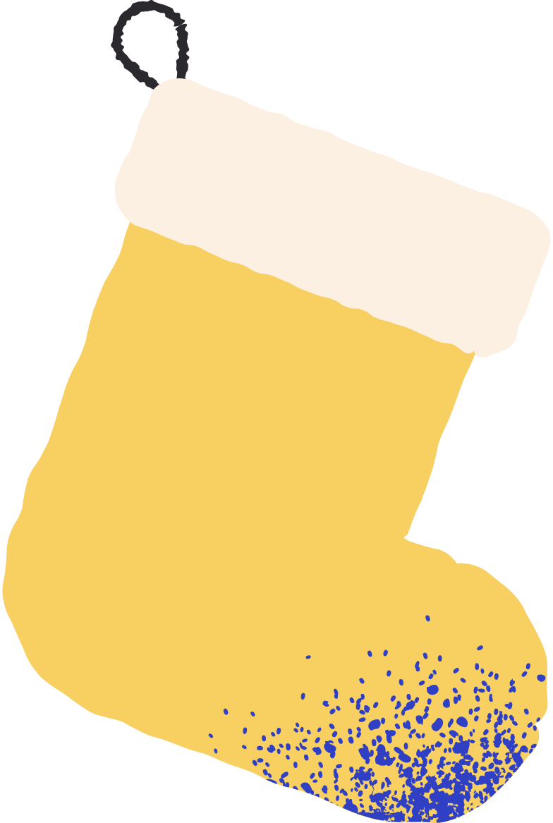 yellow stocking Clipart illustration in PNG, SVG