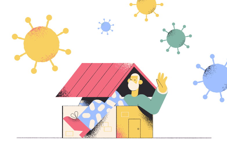 Staying home Clipart illustration in PNG, SVG