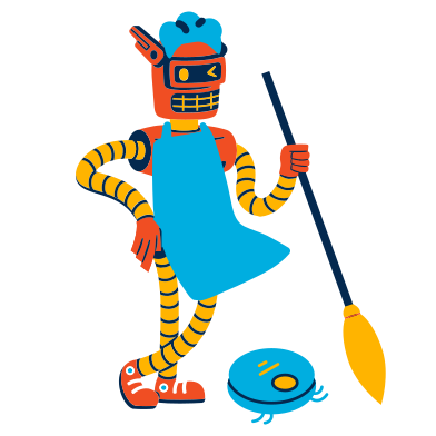 style Cleaning robot images in PNG and SVG | Icons8 Illustrations