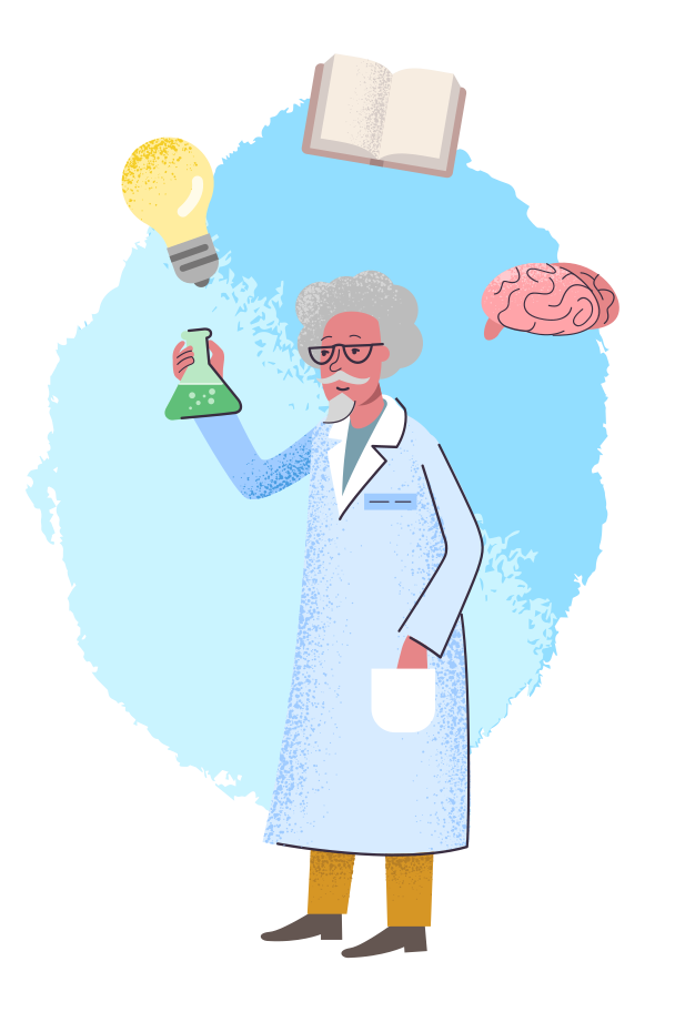 Virologist Clipart illustration in PNG, SVG