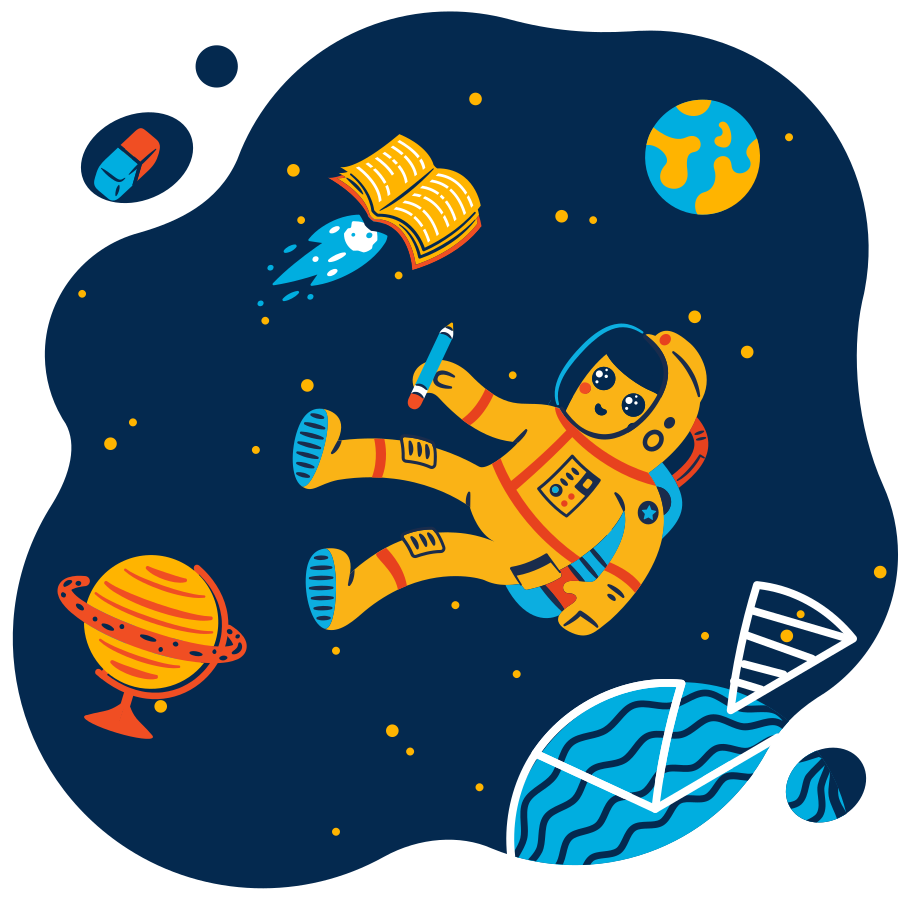 Galaxy of learning Clipart illustration in PNG, SVG
