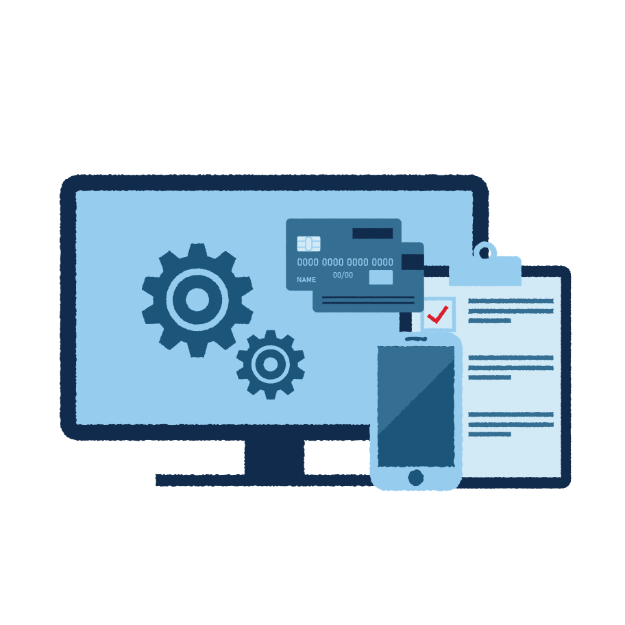 Online bank settings Clipart illustration in PNG, SVG