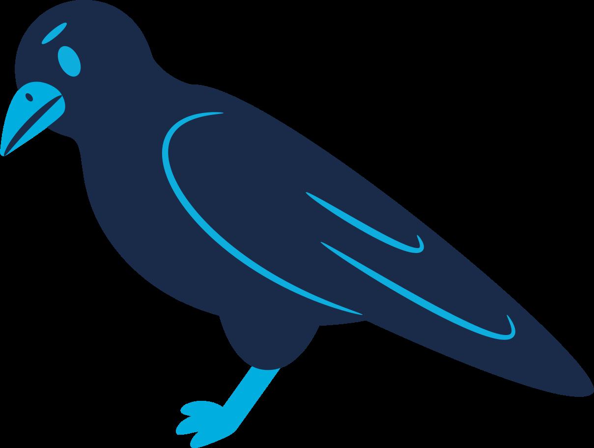 raven calm Clipart illustration in PNG, SVG