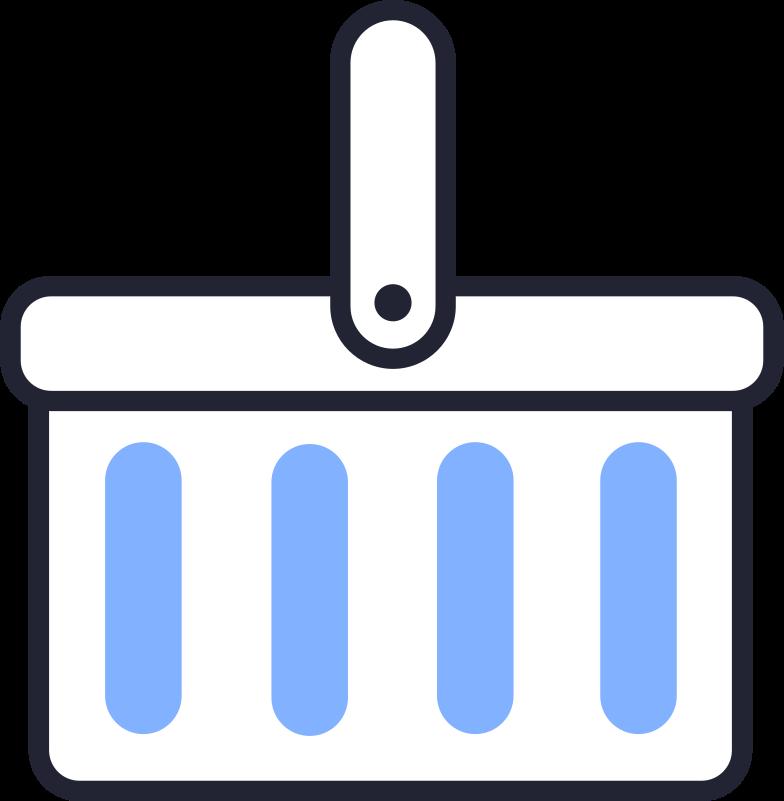 online shopping  shopping basket Clipart illustration in PNG, SVG
