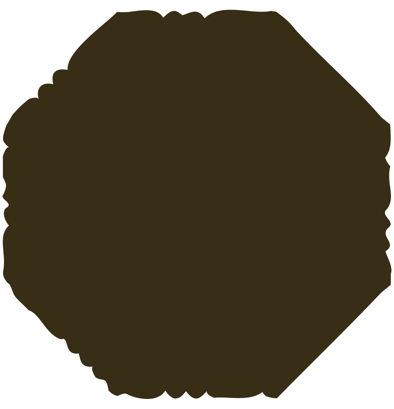octagon brown Clipart illustration in PNG, SVG