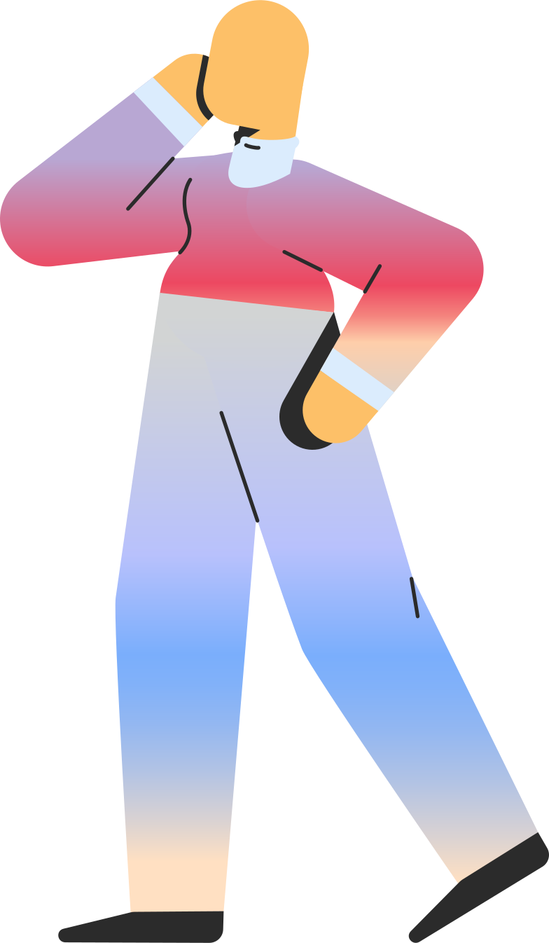 adult standing profile Clipart illustration in PNG, SVG