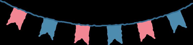 flag garland Clipart illustration in PNG, SVG