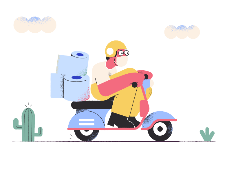 Pandemic delivery Clipart illustration in PNG, SVG