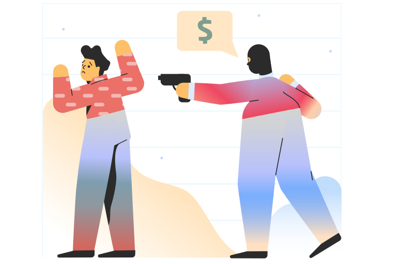 Robbery Clipart illustration in PNG, SVG