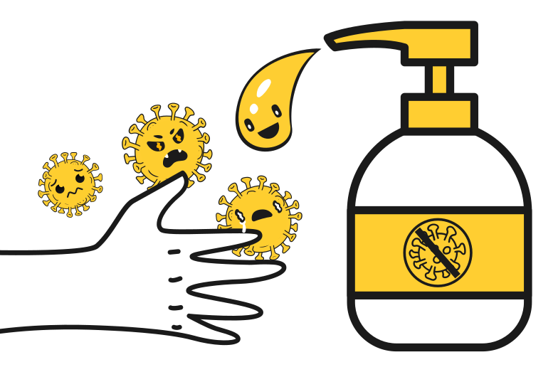 Antiseptic against the viruses Clipart illustration in PNG, SVG