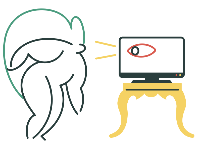 Web tracking Clipart illustration in PNG, SVG