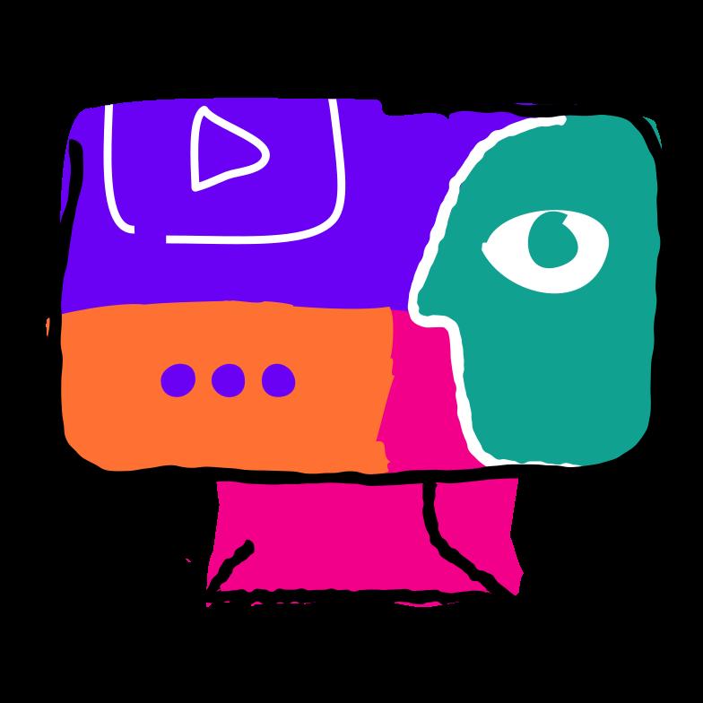 Blogger Clipart illustration in PNG, SVG